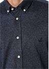 Slim Fit Düğmeli Yaka Balıksırtı Desenli Gömlek