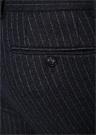 Drop 8 Lacivert Çizgili Pilesiz Yün Pantolon