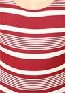 Stella Kırmızı Beyaz Çizgili Sırtı AçıkMayo