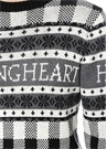 Youngheart Jakarlı Siyah Gri Yün Kazak