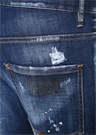 Skater Lacivert Yıpratma Detaylı Jean Pantolon