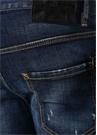 Cropped Flare Mavi Kemer Detaylı Jean Pantolon