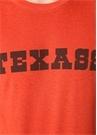 Kırmızı Bisiklet Yaka Yazı Baskılı Basic T-shirt