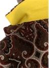 Kahverengi Şal Desenli Kelebek Yaka YünPalto
