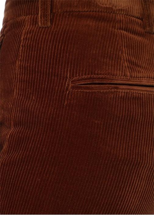 Kahverengi Normal Bel Boru Paça Kadife Pantolon