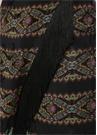 Siyah Şal Desenli Püsküllü Midi AnvelopEtek