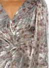 Alfonsina Storn Silver Payetli Midi Kokteyl Elbise