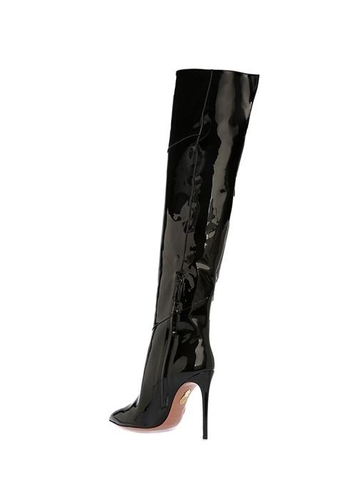 Alma Siyah Kadın Rugan Çizme