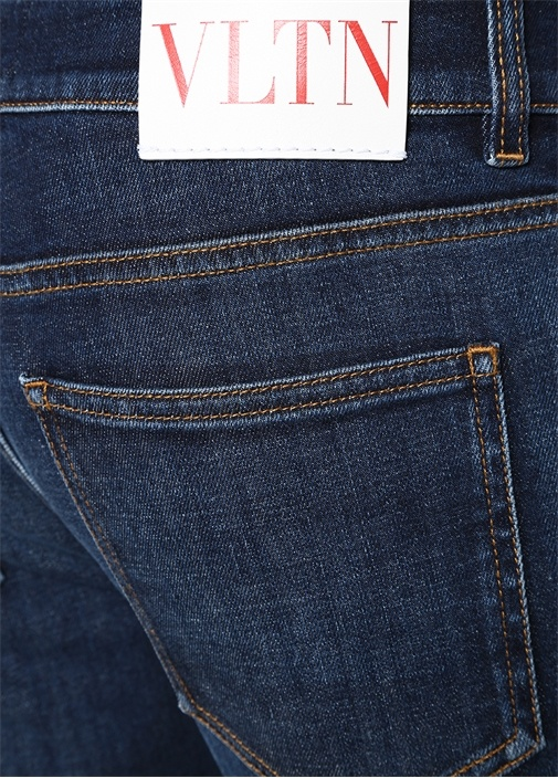 Skinny Fit Mavi Normal Bel Dar Paça Jean Pantolon