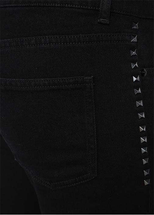 Skinny Fit Siyah Troklu Jean Pantolon