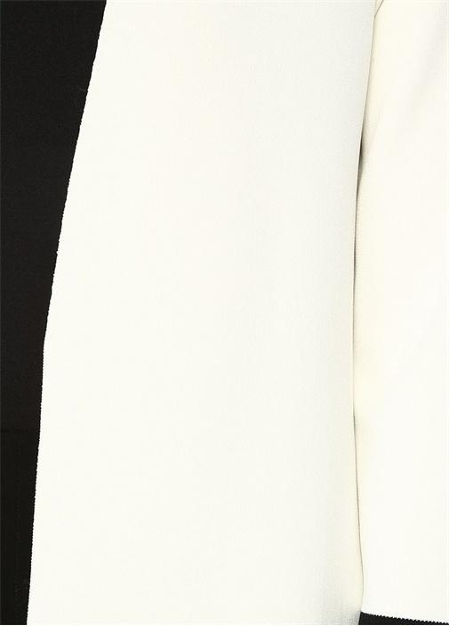 Siyah Beyaz Colorblocked Hırka