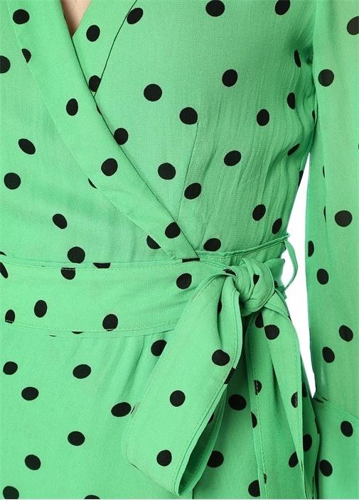 Dainty Georgette Anvelop Puantiyeli Midi Elbise