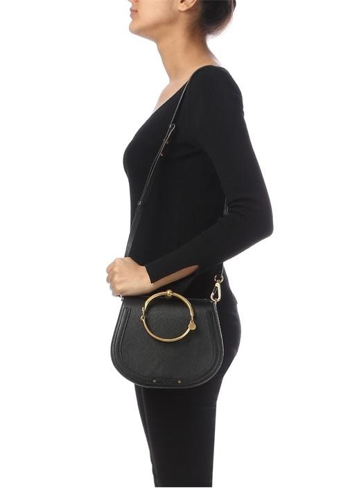 Nil Bracelet Siyah Kadın Deri Çanta