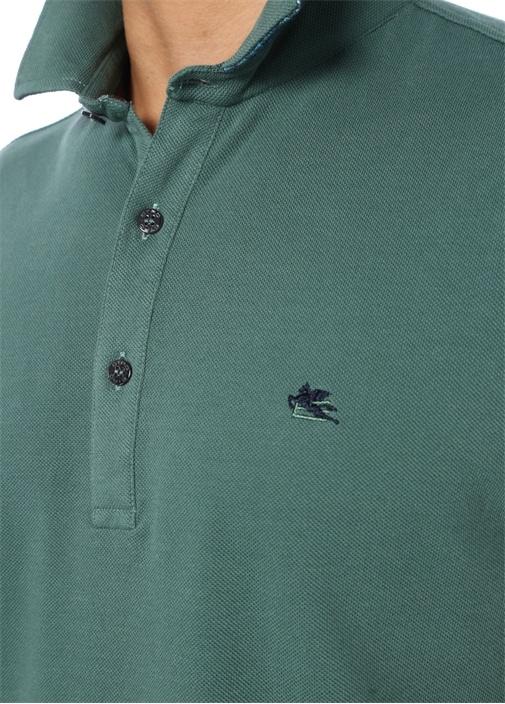 Yeşil Pike Dokulu Polo Yaka T-shirt