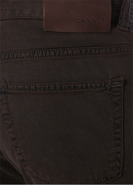 Kahverengi Normal Bel Boru Paça Jean Pantolon