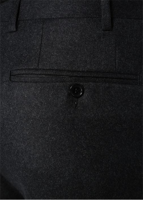 Drop 6 Antrasit Normal Bel Dokulu Yün Pantolon