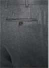 Drop 6 Açık Gri Normal Bel Dokulu Yün Pantolon