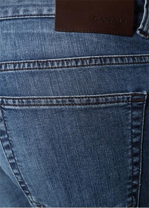 Lacivert 5 Cepli Boru Paça Jean Pantolon