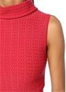 Regence Kırmızı Dik Yaka Çan Formlu Mini Elbise