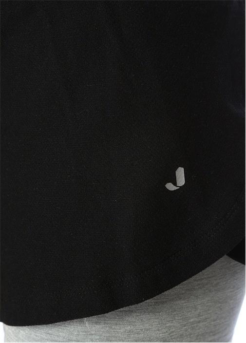 Layton Siyah Gri Melanj Tayt Detaylı Şort