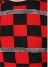 Siyah Kırmızı Kareli Kaşmir Kazak