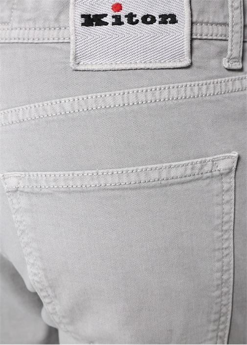 Gri Normal Bel Dar Paça Jean Pantolon