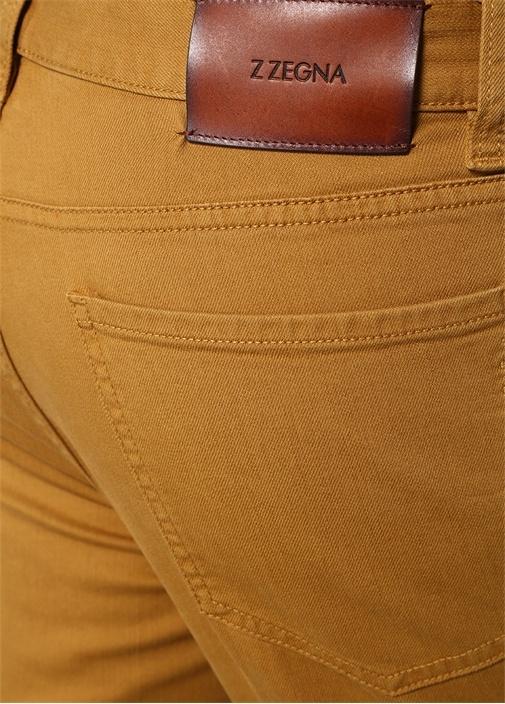 Sarı 5 Cepli Kanvas Pantolon