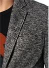Siyah Beyaz Kazayağı Desenli Kelebek Yaka Ceket