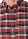 Drop 8 Kırmızı Ekose Desenli Gömlek