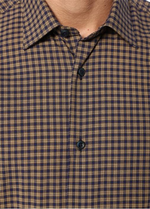 Drop 8 Ekose Desenli İngiliz Yaka Gömlek