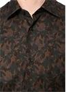 Kahverengi Yaprak Desenli Gömlek