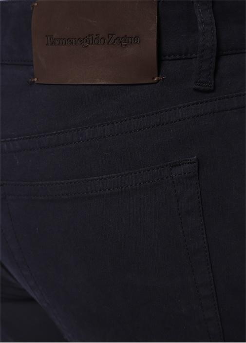 Lacivert Normal Bel Dokulu Boru Paça Pantolon
