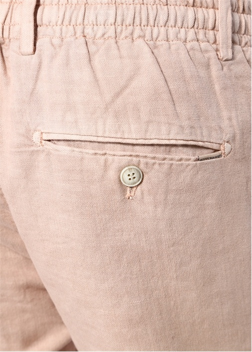 Regular Straight Fit Pembe Dokulu Pantolon