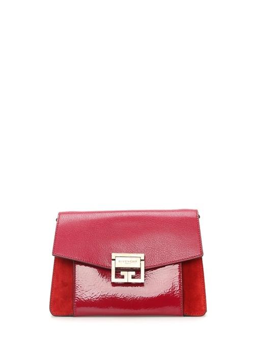 GV3 Small Kırmızı Süet Detaylı Kadın Deri Çanta