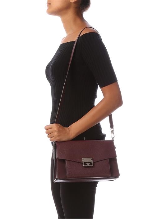 Gv3 Medium Bordo Kadın Deri Çanta
