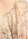 Tatum Bej Çiçekli Kayık Yaka Şifon Bluz
