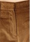 Kamel Yüksek Bel Paçası Katlı Kadife Pantolon