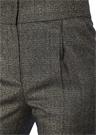 Siyah Dore Ekoseli Pilili Dar Paça Yün Pantolon
