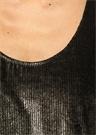 Gold Siyah Ribli Kadife Bluz