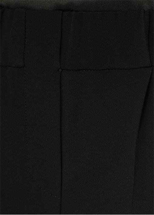 Siyah Normal Bel Pileli Cigarette Pantolon