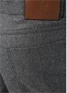 Gri Normal Bel Dar Paça Dokulu Yün Pantolon