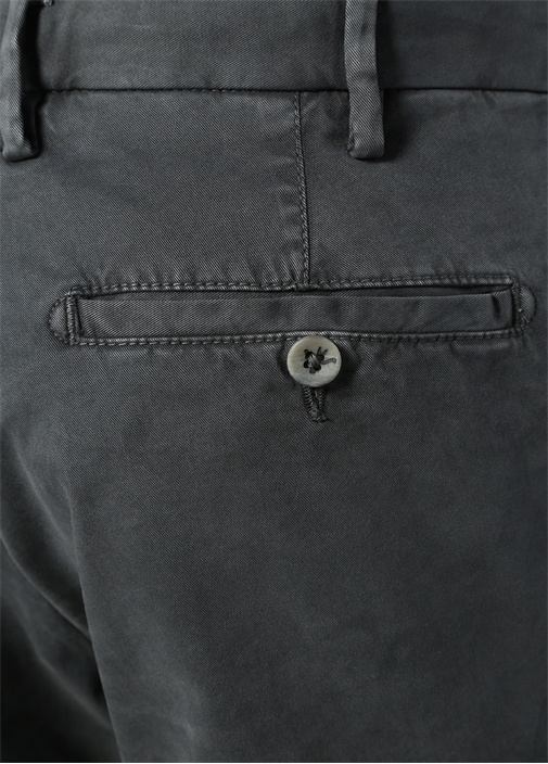 Slim Fit Gri Kanvas Pantolon
