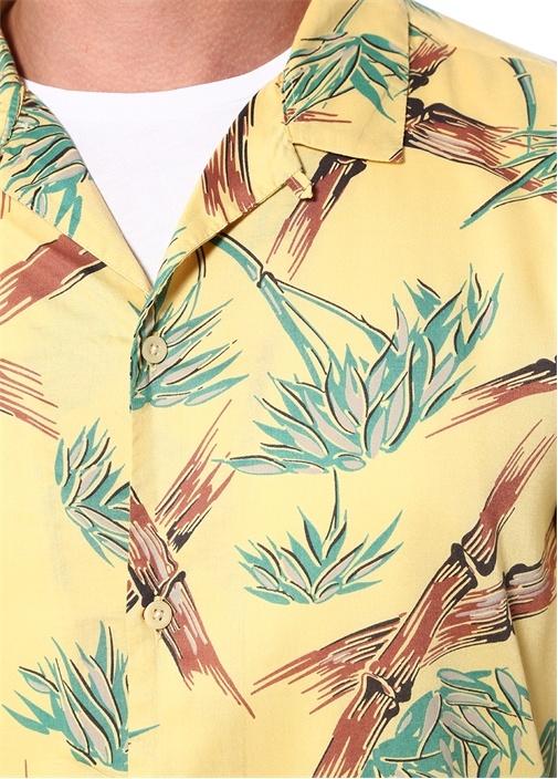 Kalalau Relaxed Fit Sarı Baskılı Gömlek