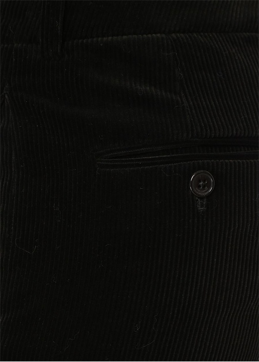 Siyah Normal Bel Kadife Pantolon