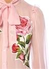 Roseto Pembe Çiçekli Transparan İpek Gömlek