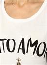Sicily Beyaz Logo Baskılı Atlet