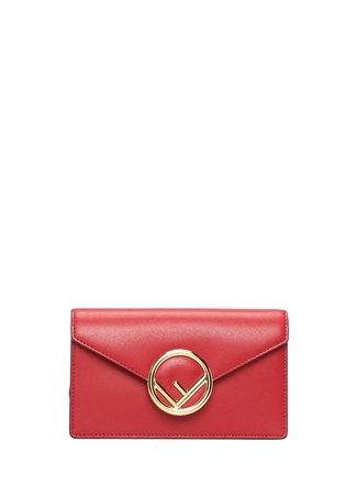 Fendi Kadın Kırmızı Logolu Deri Çantası EU