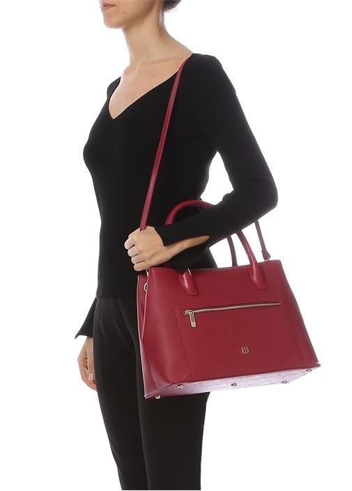 Kırmızı Dokulu Kadın Çanta