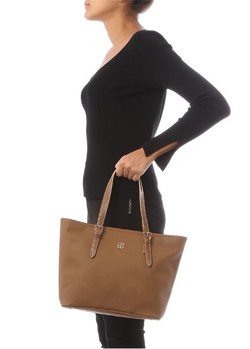 Lacivert Logolu Kadın Çanta