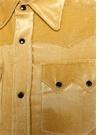Veta Sarı Çıtçıtlı Kadife Gömlek